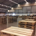 All the participant tables are built with pallets.