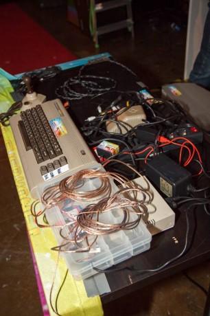 The Commodore 64 & Wire Setup