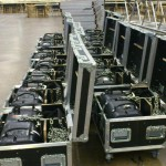 Truss Motors in their flightcases, ready to be used.