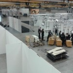 Overview of the Expo build - A lot of truss is used by DreamHack.