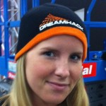 One of the Crewmembers showing off a DreamHack hat you can buy. (100 SEK)